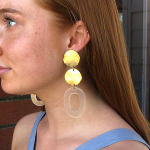 CONNIE N' JACK: Acrylic Clear Drop Earrings