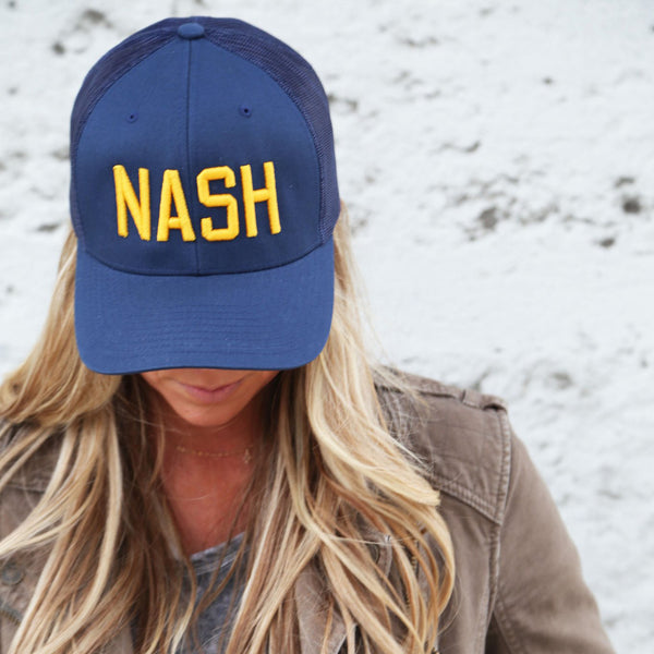 Navy/Gold NASH Classic Trucker