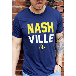 NASH•VILLE Tee (Navy/Gold)