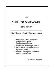 Civil Stoneware: Olive Server