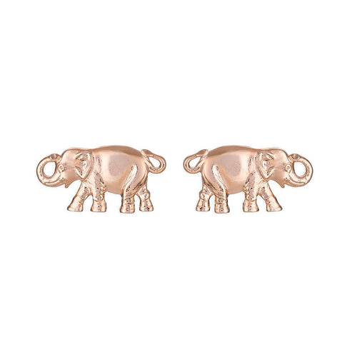 Candy Shop Vintage: Lucky Elephant Earrings (Rose Gold)