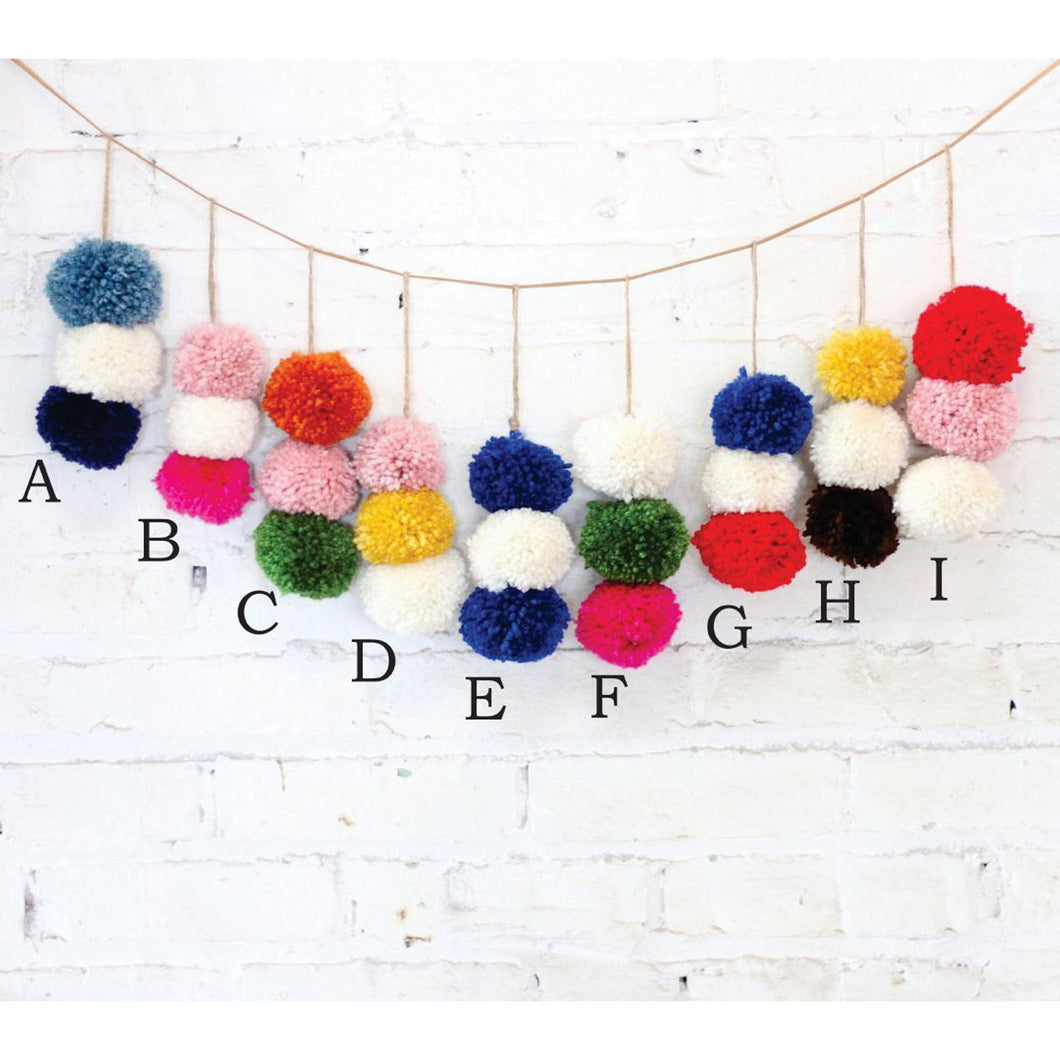 Henry Dry Goods: Three Stacked Pom-Poms