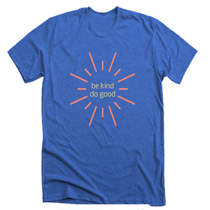 Be Kind Do Good: Bright Blue Sunshine T-shirt - SB Shop
