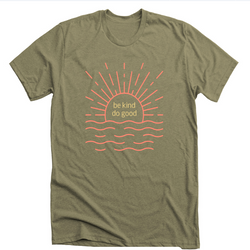 Be Kind Do Good: Olive Sunshine T-shirt - SB Shop