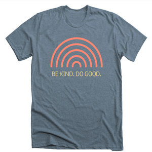 Be Kind Do Good: Gray/Blue Sunshine T-shirt - SB Shop