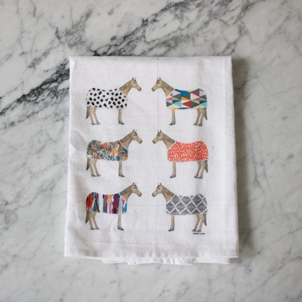 Maizie Clarke: Derby Tea Towel