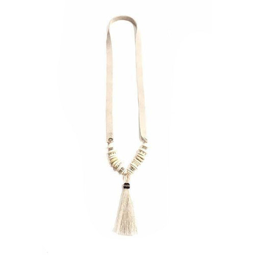 Tassel Slim Horse Hair Necklace