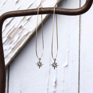 Amy Wells Designs: Sterling Silver Star & Rhinestone Earrings