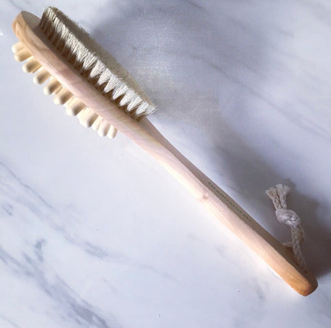 Natural Bristle Dry Brush & Massager - Savoy Bath & Home