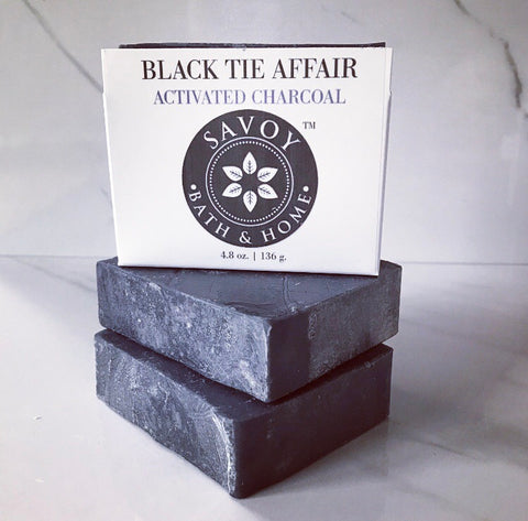 Black Tie Affair Activated Charcoal Soap Bar - Savoy Bath & Home