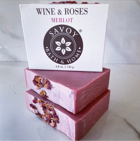 Wine & Roses  Merlot Soap Bar *NEW* - Savoy Bath & Home