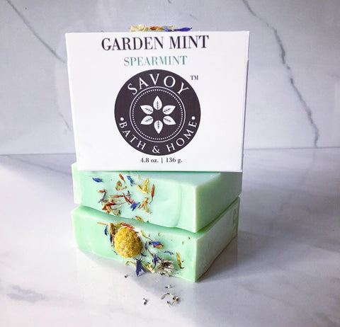 Garden Mint Spearmint Soap Bar - Savoy Bath & Home