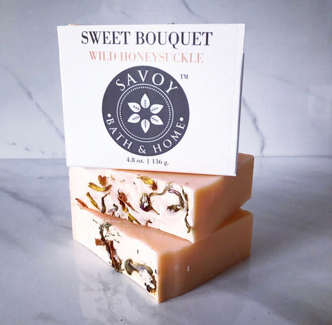 Sweet Bouquet Wild Honeysuckle Soap Bar - Savoy Bath & Home