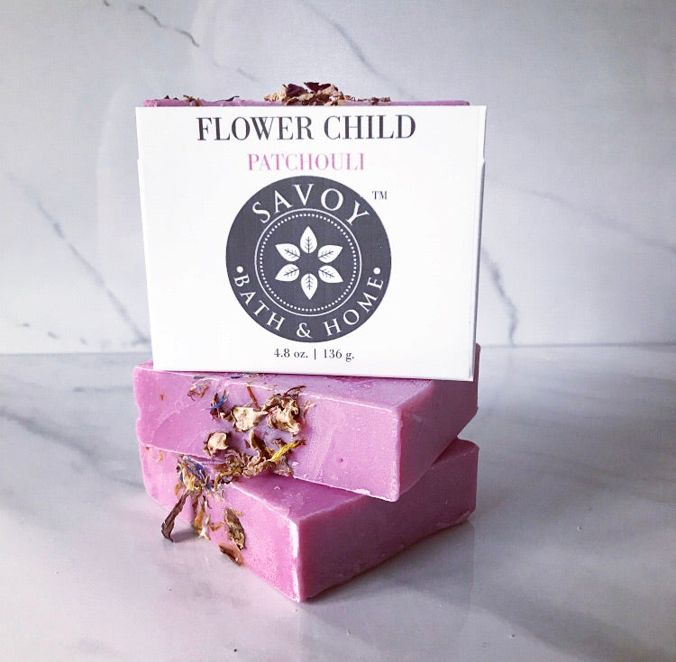 Flower Child Patchouli Soap Bar - Savoy Bath & Home