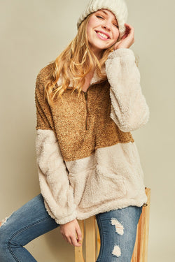 Camel Sherpa Pullover