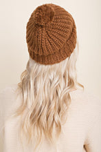 Load image into Gallery viewer, Brown Pom Pom Hat