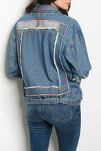Load image into Gallery viewer, Deconstructed Denim Moto Jacket