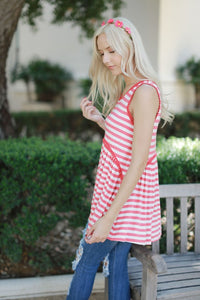 Sweet and Striped Tank