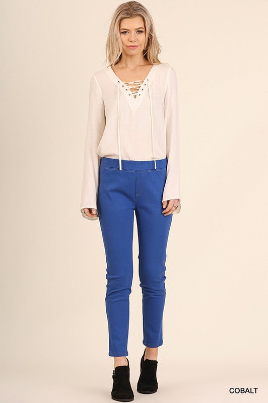 Cobalt Blue Jegging