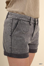 Load image into Gallery viewer, Rolled Hem Shorts - Gray