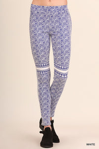 Blue and White Jegging Pant