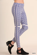 Load image into Gallery viewer, Blue and White Jegging Pant