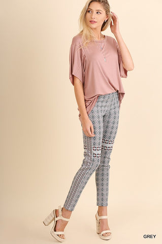 Fall Pattern Jeggings