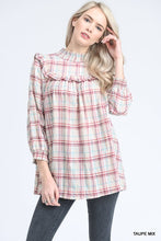 Load image into Gallery viewer, Smocked Plaid Blouse