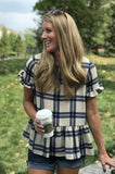Plaid Peplum