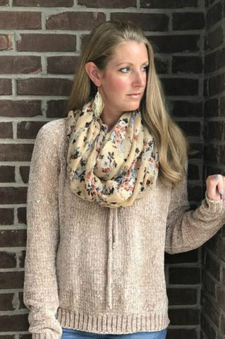 Fall Floral Scarf