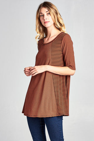 Orange and Black Tunic Tee