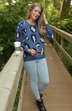 Load image into Gallery viewer, Blue Leopard Sweater