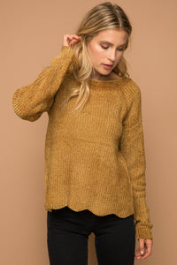 Gold Chenille Sweater