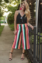 Load image into Gallery viewer, Rainbow Stripe Crop Pant