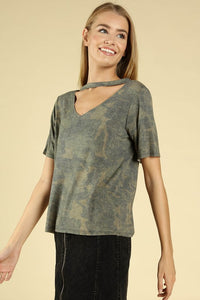 Camo and Cut Out Tee