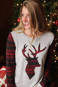 Fair Isle Deer Top