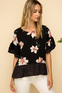 Floral Peplum Top