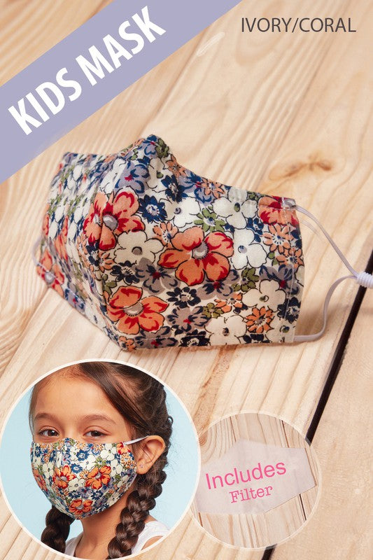Kids Mask - Multi Floral