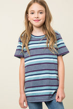 Load image into Gallery viewer, Striped Girls Tee