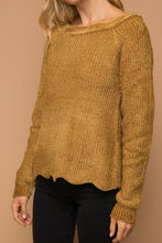 Load image into Gallery viewer, Gold Chenille Sweater