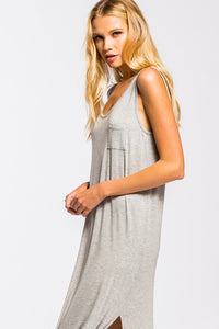 Pocket Front Maxi Dress