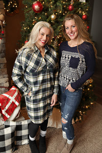 Holiday Flannel Dress