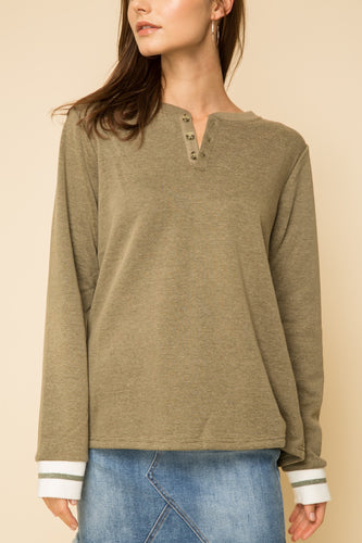 Fleece Lined Henley