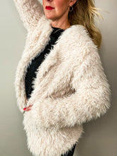 Load image into Gallery viewer, Plush Fur Jacket - Cream