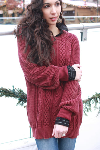 Cranberry Cozy Sweater