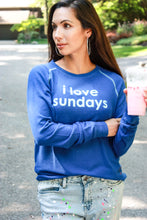 Load image into Gallery viewer, I Love Sundays Top - Blue