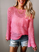 Load image into Gallery viewer, Beach Days Open Knit Top