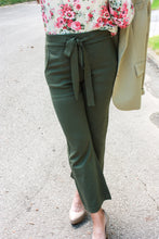 Load image into Gallery viewer, Olive Knit Crop Pants