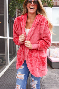 Cozy and Rosy Cardigan