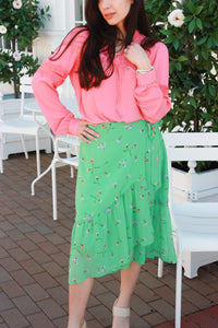 Flirty Floral Wrap Skirt